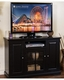 Black TV Console by Sunny Designs SU-3474B