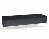 Black Velour Bench in Contemporary Style 44LG619-150