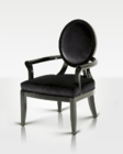 Black Velour Office Chair in Contemporary Style 44F0107
