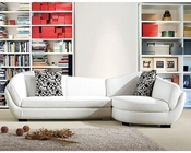 Bonded Leather Sectional Sofa in Contemporary Style 44L6070