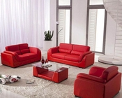 Bonded Leather Sofa Set with Coffee Table in Red 44L2929R