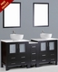 Bosconi 72in Double Round Sink Vanity BOAB230RO1S