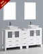 Bosconi 72in Glossy White Double Vanity Set BOAW230S1S