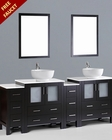Bosconi 84in Double Round Sink Vanity BOAB230RO2S