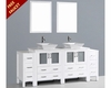 Bosconi 84in Glossy White Double Vanity Set BOAW230S2S
