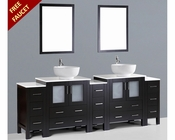 Bosconi 96in Double Round Sink Vanity BOAB230RO3S