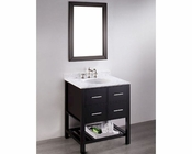 Bosconi Bathroom 30in Contemporary Single Vanity BOSB-250-1