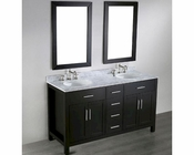 Bosconi Bathroom 60in Contemporary Double Vanity BOSB-252-4