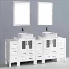 Bosconi - Double Sink Bathroom Vanities