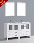 Bosconi White 60in Double Integrated Sink Vanity BOAW230U