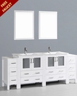Bosconi White 84in Double Integrated Sink Vanity BOAW230U2S
