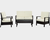 Breeze Outdoor Sofa Set in Espresso White by Modway MY-EEI957EW