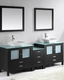 Brentford Espresso 90in Double Bathroom Set by Virtu USA VU-MD-4490-ES