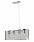 ELK Brisbane Collection 4 Light Chandelier in Polished Chrome EK-55003-4