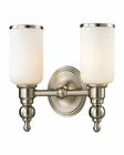 ELK Bristol Collection 2 light bath in Brushed Nickel EK-11581-2