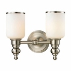 ELK Bristol Collection 2 light bath in Brushed Nickel- LED EK-11581-2-LED