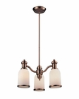 ELK Brooksdale 3-Light Chandelier in Antique Copper EK-66182-3