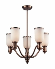 ELK Brooksdale 5-Light Chandelier in Antique Copper EK-66183-5