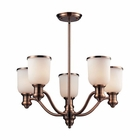 ELK Brooksdale 5-Light Chandelier in Antique Copper - Led EK-66183-5-LED