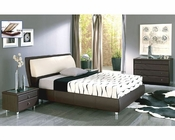 Brown Bedroom Set Isabel in Modern Style Made in Spain 33B351