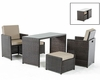 Brown / Beige Outdoor Dining Set in Modern Style 44P216-SET