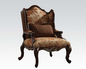 Brown Cherry Chair w/ 1 Pillow Remington by Acme AC50157