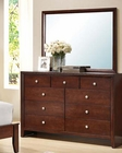 Brown Cherry Dresser w/ Mirror Ilana by Acme AC20405DM