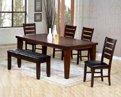 Brown Cherry Finish Dining Room Set CO-101881s