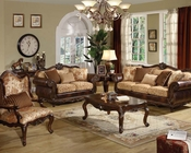 Brown Cherry Sofa Set Remington by Acme AC50155SET