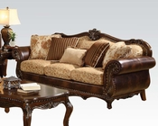 Brown Cherry Sofa w/ 5 Pillows Remington by Acme AC50155