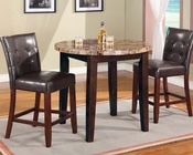 Brown Counter Height Set Bologna by Acme Furniture AC07375SET