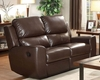 Brown Double Reclining Loveseat Gannet by Homelegance EL-8529BRW-2