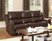 Brown Double Reclining Sofa Gannet by Homelegance EL-8529BRW-3