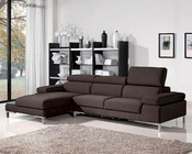 Brown Fabric Sectional Sofa Set 44L1103