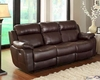 Brown Finish Double Reclining Sofa Marille by Homelegance EL-9724BRW-3