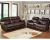 Brown Finish Reclining Sofa Set Marille by Homelegance EL-9724BRW-SET