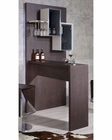 Brown Oak Bar Cabinet in Contemporary Style 44BR514
