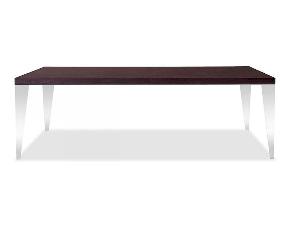 Brown oak dining table in modern style 44d539t for Modern style dining table