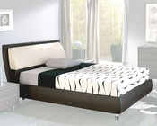 Brown Platform Storage Bed Isabel in Modern Style Made in Spain 33B352