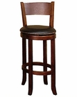 Cappuccino Bar Stool w/Back SU-1883CA (Set of 2)
