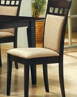 Cappuccino UPL Back Dining Side Chair CO-100773 (Set of 2)