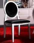 Caprice White Finish Side Chair 44DAA030W (Set of 2)