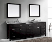Caroline 93in Espresso Bathroom Set by Virtu USA VU-MD-2193-WMRO-ES