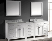Caroline 93in White Bathroom Set by Virtu USA VU-MD-2193-WMRO-WH