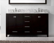 Caroline Avenue 60in Espresso Vanity by Virtu USA VU-GD-50060-CAB-ES