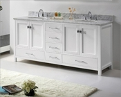 Caroline Avenue 72in White Vanity by Virtu USA VU-GD-50072-CAB-WH