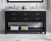 Caroline Estate Espresso 60in Vanity by Virtu USA VU-MD-2260-CAB-ES
