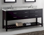 Caroline Estate Espresso 72in Vanity by Virtu USA VU-MD-2272-CAB-ES