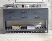 Caroline Estate Grey 60in Vanity by Virtu USA VU-MD-2260-CAB-GR