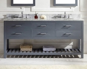 Caroline Estate Grey 72in Vanity by Virtu USA VU-MD-2272-CAB-GR